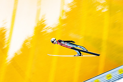 12.01.2018, Kulm, Bad Mitterndorf, AUT, FIS Skiflug Weltcup, Training, im Bild Clemens Aigner (AUT) // Clemens Aigner of Austria during his Practice Jump of FIS Ski Flying World Cup at the Kulm, Bad Mitterndorf, Austria on 2018/01/12, EXPA Pictures © 2018, PhotoCredit: EXPA/ Dominik Angerer