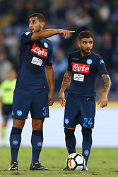 September 20, 2017 - Rome, Italy - Faouzi Ghoulam of Napoli and Lorenzo Insigne of Napoli during the Serie A match between SS Lazio and SSC Napoli at Stadio Olimpico on September 20, 2017 in Rome, Italy. (Credit Image: © Matteo Ciambelli/NurPhoto via ZUMA Press)