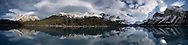 Panorama of southern Maligne Lake, Jasper National Park