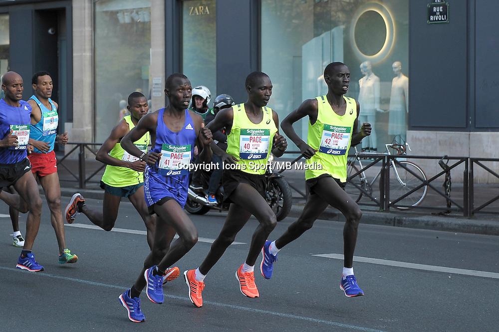 Rotich Pace / Kiptoo Pace / Limo Pace - 12.04.2015 - Marathon de Paris 2015<br />Photo :  Andre Ferreira  / Icon Sport
