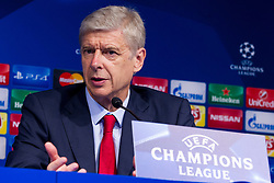 Arsene Wenger, head coach of Arsenal F.C. during press conference after football match between GNK Dinamo Zagreb, CRO and Arsenal FC, ENG in Group F of Group Stage of UEFA Champions League 2015/16, on September 16, 2015 in Stadium Maksimir, Zagreb, Croatia. Photo by Urban Urbanc / Sportida