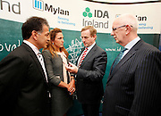 No fee for Repro: 18/04/2012.Taoiseach Enda Kenny TD announces Mylan's decision to invest $430 million and create in excess of 500 new jobs at its Galway and Dublin facilities...Robert Coury, Executive Chairman, and Heather Bresch, CEO Mylan are pictured with An Taoiseach Enda Kenny TD and Barry O'Leary, CEO of the Irish Development Authority (IDA) at the announcement by the IDA, and Mylan one of the world's largest generics and speciality pharmaceutical companies, is expected to create more than 500 new jobs at its Galway and Dublin facilities by the end of 2016. Pic Jason Clarke Photography.