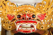 Dintorni di Ubud Bali 2015 - Maschera tradizionale del Barong, mostro/dio che rappresenta il bene.