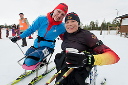 WICKER Anja, KOCHEROVA Natalia, GER, RUS, Long Distance Biathlon, 2015 IPC Nordic and Biathlon World Cup Finals, Surnadal, Norway