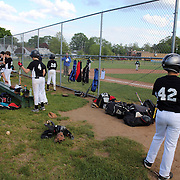 Young players prepare to bat during the Norwalk Little League baseball competition at Broad River Fields,  Norwalk, Connecticut. USA. Photo Tim Clayton