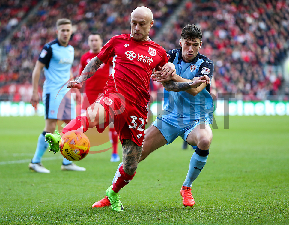 David Cotterill of Bristol City - Rogan Thomson/JMP - 04/02/2017 - FOOTBALL - Ashton Gate Stadium - Bristol, England - Bristol City v Rotherham United - Sky Bet Championship.