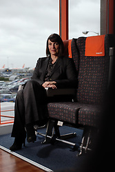 UK ENGLAND LUTON 12FEB14 - Easyjet CEO Carol McCall poses for a photo at the company's headquarters in Luton, England.<br /> <br /> <br /> <br /> jre/Photo by Jiri Rezac<br /> <br /> <br /> <br /> © Jiri Rezac 2014