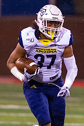 NORMAL, IL - September 21: Jaden Tauanu'u during a college football game between the ISU (Illinois State University) Redbirds and the Northern Arizona University (NAU) Lumberjacks on September 21 2019 at Hancock Stadium in Normal, IL. (Photo by Alan Look)