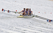 Marathon, GREECE, FRA LM4-, Bow, Daneil BLIN, Alexis CREVEL, Vincent DUPONT and Lionel JACQUIOT. at the FISA European Rowing Championships.  Lake Schinias Rowing Course, FRI 19.09.2008  [Mandatory Credit Peter Spurrier/ Intersport Images] , Rowing Course; Lake Schinias Olympic Rowing Course. GREECE