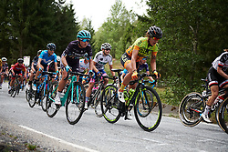 Abby-Mae Parkinson (GBR) and Soraya Paladin (ITA)  on the categorised climb at Ladies Tour of Norway 2018 Stage 3. A 154 km road race from Svinesund to Halden, Norway on August 19, 2018. Photo by Sean Robinson/velofocus.com