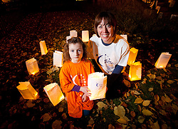 Repro Free: 25/20/2010 Roxane Vance Cronin (5) is pictured with Stephanie Casey, Community Fund Raising Manager at the Irish Cancer Society during a Candle of Hope ceremony to mark the launch of the Global Relay For Life European Summit which is being hosted by the Irish Cancer Society in Dublin today. Pic Andres Poveda..The Global Relay For Life European Summit is an international symposium focusing on how ?We Save Lives? through Relay For Life in communities across the globe. Relay For Life is a 24 hour community celebration event which sees teams of participants take to the track overnight to symbolise the fact that cancer never sleeps. The Irish Cancer Society was chosen this year to host the Summit, which is organised by the American Cancer Society, from the 25th-27th of October 2012....To find out more about Relay For Life, visit www.relayforlife.ie or call 1850 60 60 60. ..ENDS. .For further information, please contact:.Grainne O'Rourke / Órla Sheils.Communications, Irish Cancer Society.E: gorourke@irishcancer.ie / osheils@irishcancer.ie .T: 01 231 0546 / 01 231 055 / 087 9707709