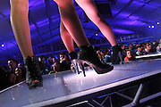 Dancers on stage at Bud Light Hotel party during Super Bowl XLVI party in Indianapolis.