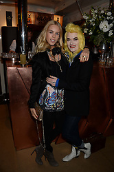 Johnnie Walker Gold Label Reserve Finale Celebration Party aboard the John Walker & Sons Voyager moored at the Prince of Wales Docks, Leith, Edinburgh, Scotland on 14th August 2013.<br /> Picture shows:-Left to right, Mary Charteris and Pam Hogg.