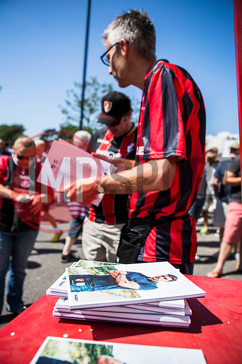 AFC Bournemouth fans arrive, match day programs on sale - Mandatory by-line: Jason Brown/JMP - Mobile 07966 386802 08/08/2015 - FOOTBALL - Bournemouth, Vitality Stadium - AFC Bournemouth v Aston Villa - Barclays Premier League - Season opener