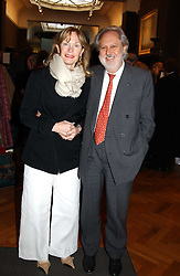 LORD & LADY PUTTNAM at a party to celebrate the publication of an autobiography by the late Jack Rosenthal at The Fine Art Society, 148 New Bond Street, London W1 on 21st April 2005.<br />