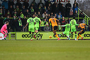 Cambridge United's Medy Elito(21) shoots at goal scores a goal 2-1 during the EFL Sky Bet League 2 match between Forest Green Rovers and Cambridge United at the New Lawn, Forest Green, United Kingdom on 20 January 2018. Photo by Shane Healey.