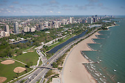 """North Avenue Beach <br /> North Avenue Beach has breakwaters and a peninsula to protect the Chicago Shoreline from coastal erosion and large waves known as seiches. The beach is considered a """"perched beach"""" because it's sand level is higher than most erosion suffering beaches. <br /> <br /> North Ave and Lake Shore Dr<br /> Chicago, IL<br /> 60610"""