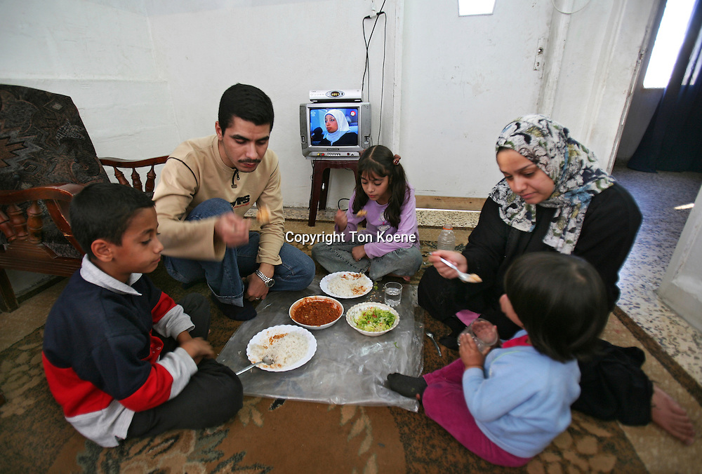 An Iraqi family that has moved to Amman, Jordan