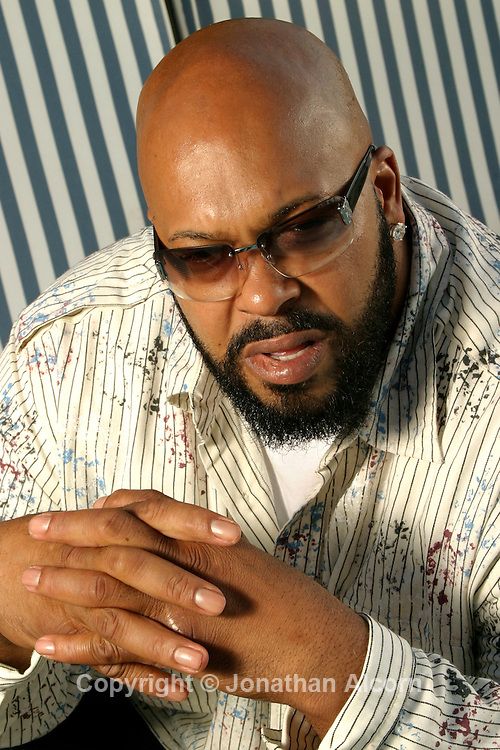 5-22-2007 Beverly Hills, CA   Suge Knight at the 4 Seasons Hotel. Knight is a controversial entrepreneur in the hip hop music industry and co-founder (now CEO) of Death Row Records.<br /> Photo by Jonathan Alcorn