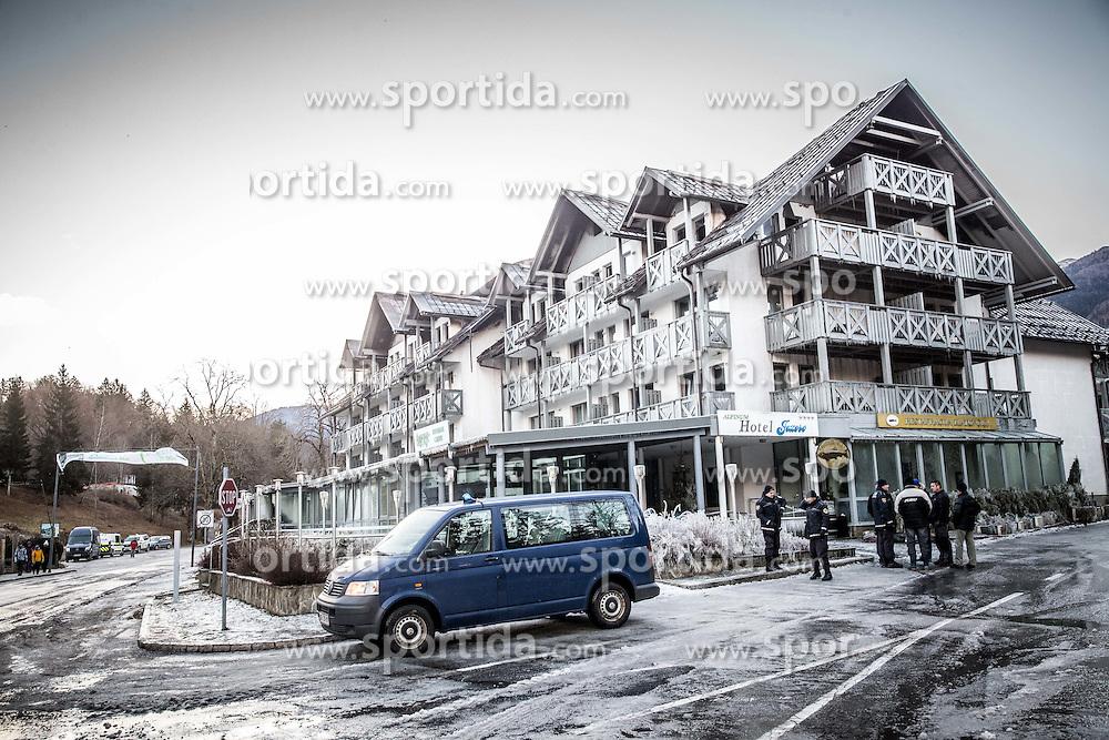 Hotel Jezero po požaru, Bohinj, 6. januar 2017.<br /> // Hotel Jezero in Bohinj after fire in the highest floor, on January 6, 2017 in Ribcev Laz, Slovenia. Photo by Vid Ponikvar / Sportida