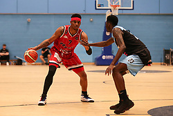 Justin Gray of Bristol Flyers in possession - Photo mandatory by-line: Arron Gent/JMP - 28/04/2019 - BASKETBALL - Surrey Sports Park - Guildford, England - Surrey Scorchers v Bristol Flyers - British Basketball League Championship