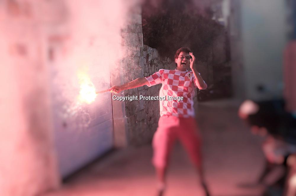 suporter de foot aux couleurs croates
