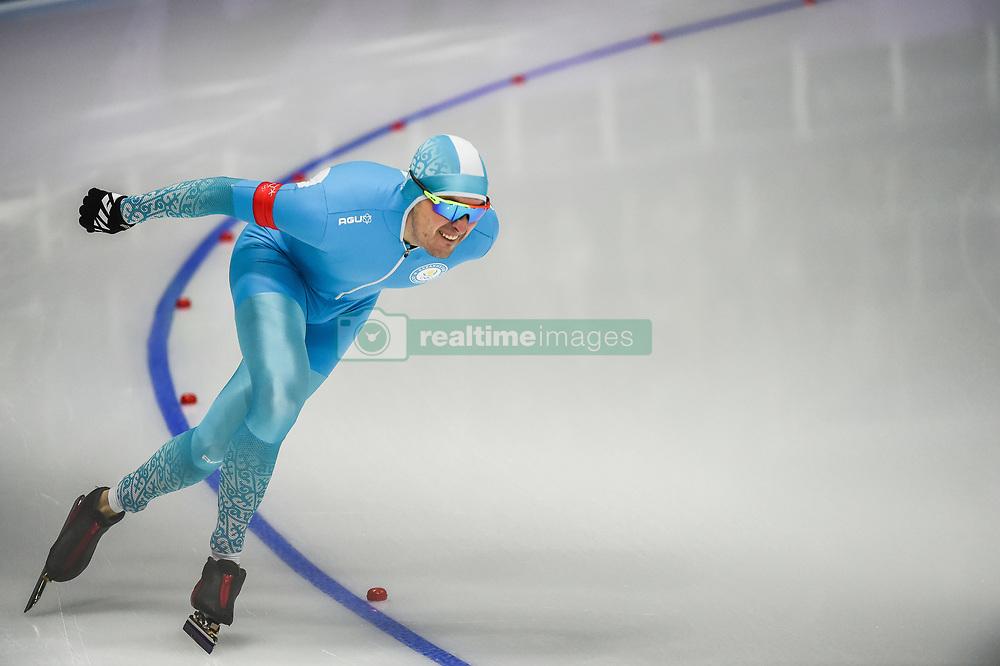 February 23, 2018 - Pyeongchang, Gangwon, South Korea - Fedor Mezentsev of Kazakhstan in 1000 meter speedskating at winter olympics, Gangneung South Korea on February 23, 2018. (Credit Image: © Ulrik Pedersen/NurPhoto via ZUMA Press)