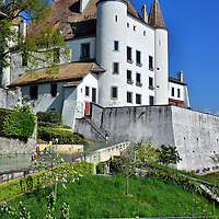 Château de Nyon and Terrace in Nyon, Switzerland<br />