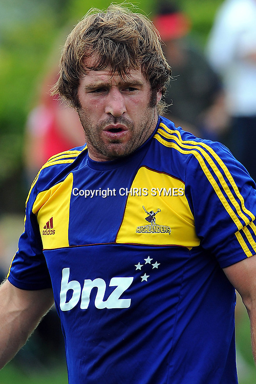 Highlanders Andrew Hore during their Super Rugby Pre-season game Crusaders v Highlanders. Rugby Park, Greymouth, New Zealand. Friday 3 February 2012. Photo: Chris Symes/www.photosport.co.nz