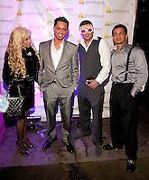 NEW YORK, NY - APRIL 13:  Victoria Gotti, Frank Gotti Agnello, John Gotti Agnello and Carmine Agnello Jr. attend Frank Gotti's birthday 21st celebration at Greenhouse on April 13, 2011 in New York City.  (Photo by Dave Kotinsky/Getty Images)