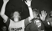Ravers losing themselves in the music, The Boardwalk, Manchester, 1991.