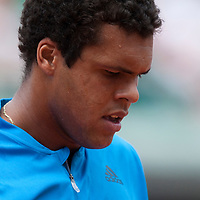 1 June 2009: Jo Tsonga of France is seen during the Men's Single Fourth Round match on day nine of the French Open at Roland Garros in Paris, France.