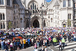 "Royal Courts of Justice, London,  August 31st 2014. Thousands of Jews and their supporters from London and across the UK demand ""Zero Tolerance for Antisemites"", organised by the Campaign Against Antisemitism."