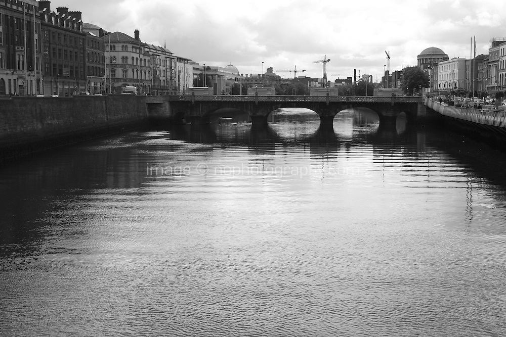 view from the Millennium bridge Dublin Ireland