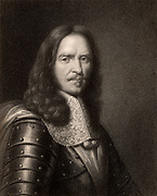 Henri de la Tour d'Auvergne Turenne, Vicomte de Turenne (1611-1675) French soldier; marshal of France 1644; Marshal-General of France 1668. Turenne was killed by a cannon ball in the stomach while reconnoitring at Sasbach, Germany. Engraving frrom 'The Gallery of Portraits' Vol I by Charles Knight (London, 1833).