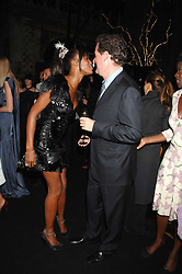 NAOMI CAMPBELL and PIERS MORGAN at the Moet Mirage Evening at Holland Park Opera House, London W8 on 16th September 2007.<br />