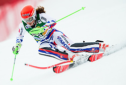"Petra Vlhova (SVK) in action during 1st Run of the FIS Alpine Ski World Cup 2017/18 7th Ladies' Slalom race named ""Golden Fox 2018"", on January 7, 2018 in Podkoren, Kranjska Gora, Slovenia. Photo by Ziga Zupan / Sportida"