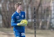 FODBOLD: Sebastian Sørensen (Slagelse BI) under kampen i Danmarksserien mellem Fredensborg BI og Slagelse BI den 7. april 2018 på Fredensborg Stadion. Foto: Claus Birch