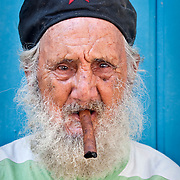 CUBA (La Habana). 2009. Old man in Old Habana. Many of the elderly continue to be faithful defenders of the Revolution.