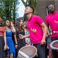 Nederland, Amsterdam, 30 juli 2017.<br /> De PakistaanseTransgender Kami Choudry (links) voor de Oosterbar Generator (Mauritskade 57, bij het Oosterpark) tijdens de opening van de Transpride.<br /> Foto: Jean-Pierre Jans<br /> <br /> The Netherlands, Amsterdam, July 30, 2017. <br /> The Pakistani Transgender Kami Choudry (left) in front of the Oosterbar Generator (Mauritskade 57, at the Oosterpark) during the Transpride opening.<br /> Photo: Jean-Pierre Jans