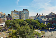 View of Union Square from 8 Union Square South, 7th floor