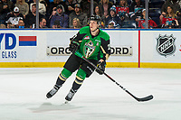 KELOWNA, BC - JANUARY 19:  Parker Kelly #27 of the Prince Albert Raiders skates against the Kelowna Rockets at Prospera Place on January 19, 2019 in Kelowna, Canada. (Photo by Marissa Baecker/Getty Images)***Local Caption***