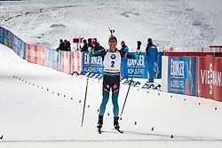 Quentin Fillon Maillet (FRA) celebrates after the Mass Start Men 15 km at day 4 of IBU Biathlon World Cup 2019/20 Pokljuka, on January 23, 2020 in Rudno polje, Pokljuka, Pokljuka, Slovenia. Photo by Peter Podobnik / Sportida