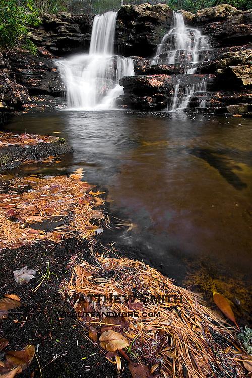 Cascade Falls in Jefferson National Forest Virginia