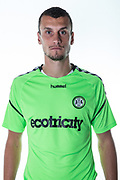 Forest Green Rovers Haydn Hollis during the 2018/19 official team photocall for Forest Green Rovers at the New Lawn, Forest Green, United Kingdom on 30 July 2018. Picture by Shane Healey.