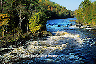 64795-00504 Menominee River at Piers Gorge in fall near Iron Mountain   MI