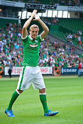 03.08.2014, Weserstadion, Bremen, GER, SV Werder Bremen, Tag der Fans, im Bild Felix Kroos (SV Werder Bremen #18) // during the supporters day of the german 1st Bundesliga Club SV Werder Bremen at the Weserstadion in Bremen, Germany on 2014/08/03. EXPA Pictures © 2014, PhotoCredit: EXPA/ Andreas Gumz<br /> <br /> *****ATTENTION - OUT of GER*****