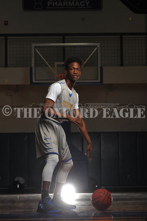 Oxford High's Jarkel Joiner is the Oxford Eagle's Player of the Year for 2015-16, in Oxford, Miss. on Tuesday, April 5, 2016.