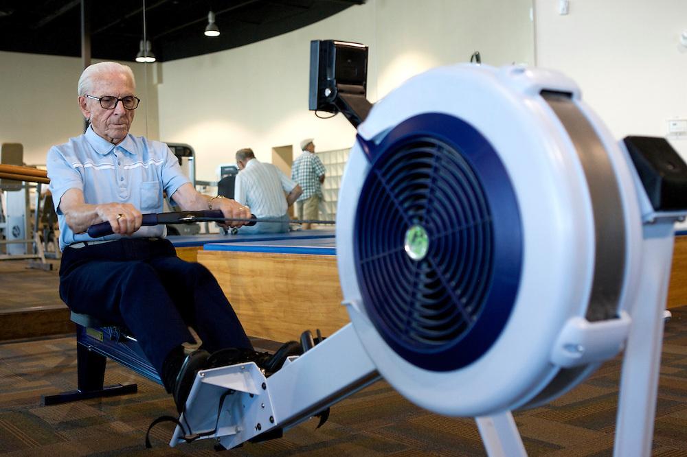 UNITED STATES-SUN CITY-A retirement community in Arizona. Fitness. PHOTO: GERRIT DE HEUS .VERENIGDE STATEN-SUN CITY-  Sun City. COPYRIGHT GERRIT DE HEUS