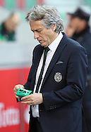 Sporting's coach Jorge Jesus  reacts during  Portuguese First League football match Maritimo vs Sporting held at Barreiros Stadium, Funchal, Portugal, 21 January, 2017.  EPA / GREGÓRIO CUNHA